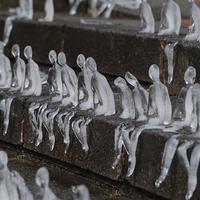 Különleges  jégemlékmű az első világháború civil áldozataiért