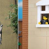Banksy-graffitik LEGO-ból