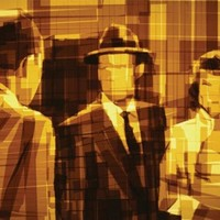 Film noir festmények ragasztószalagokból
