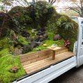 Mobil japánkertek teherautó-platókon