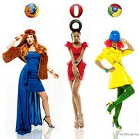 Internetböngészők ihlette ruhák