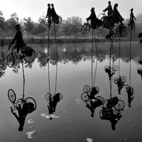 Látványos kerékpáros szoborinstalláció Franciaországból