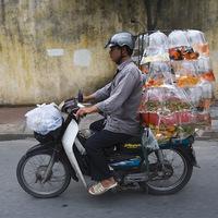 Teherszállítás motorbiciklivel