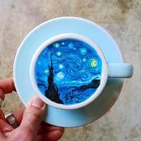 Festmény a kávédban!