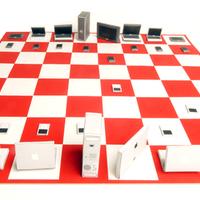 Mac kontra PC sakk-készlet