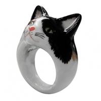 Cuki állatos gyűrűk porcelánból