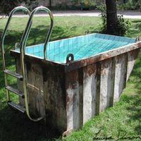 Házilag barkácsolt medencék