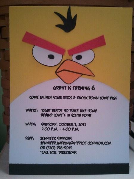 angry birds szülinapi meghívók Népszerű Mérges Madarak   Szülinapi ötletek, inspirációk angry birds szülinapi meghívók