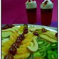 Színes sütemények -  színes gyümölcskelyhek