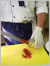 Mézes-konyakos chili karikák Zsámbék Szakiskola szakács