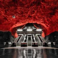 Stockholm lenyűgöző metróállomásai