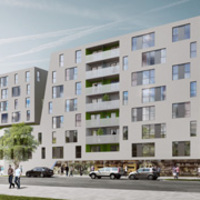 Sonnwendviertel lakóegyüttes - a BKK-3 győzelme