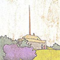 Kilátó terve a Martinovics hegyre (grafika)