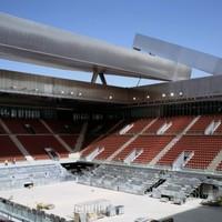 Olimpiai teniszcsarnok Madridban - nyitható tetővel