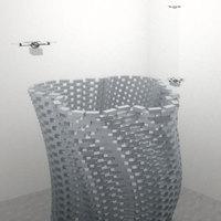 Ha repülő robotok építenek