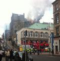 Lángokban Mackintosh művészeti főiskolája... (Glasgow)