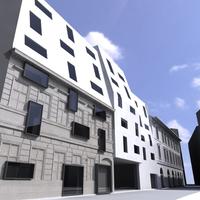 Szálloda terve a Kazinczy utcába - Sporaarchitects