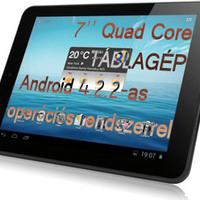7 colos Quad Core táblagép + Android 4.2.2 operációs rendszer