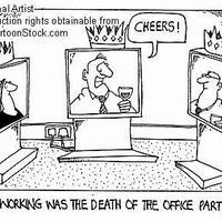 A távmunka a céges partik halála