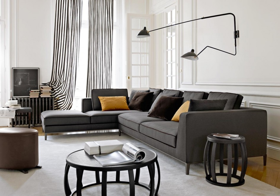 contemporary-home-decor-decorating-ideas-modern-modern-wall-lamp-gray-sectional-black-trim-plus-elegant-black-and-white-stripe-curtain-and-contemporary-wooden-table-furniture.jpg