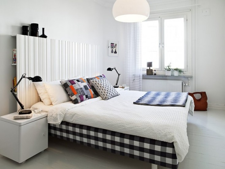 exquisite-swedish-bedroom-interior-designs-modern-home-ideas-with-black-white-checkered-pattern-cover-bed-frame-plus-white-comfortable-bedding-sheet-also-square-white-laminated-bedside-table-and.jpg