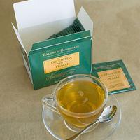 Őszibarackos zöld tea a Taylors of Harrogate-től