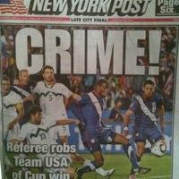 A New York Post mai címlapja