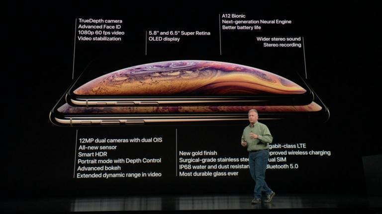 iPhone XS  az Apple új csúcs mobilja