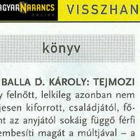 Darvasi Ferenc: Mint egy vetítővászonnál