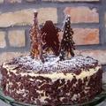 Téli triplacsokoládés torta