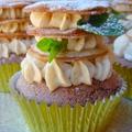 Fahéjas rétes cupcake gesztenyekrémmel