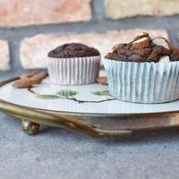 Csokis-mandulás muffin sütőtökkel