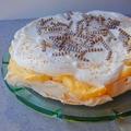 Citromkrémes pavlova torta