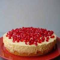 Gránátalmás madártej torta
