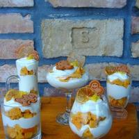 Mézes-narancsos karácsonyi pohárdesszert