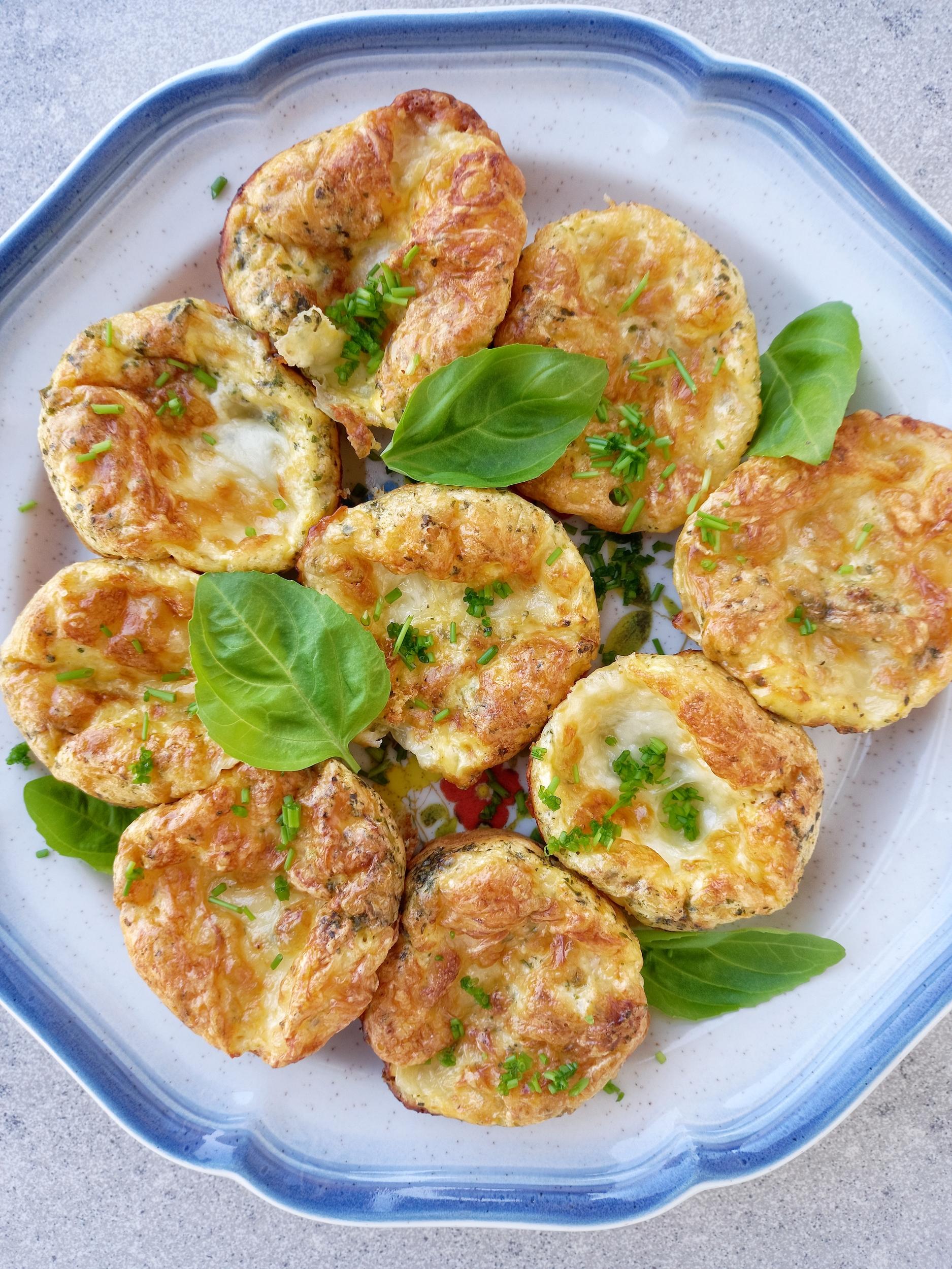 Sajtos-sonkás tojásmuffin