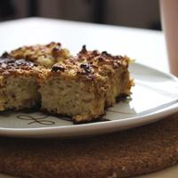 Almás-zabos-túrós süti