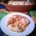 Csirke marylandi módra+krumplipüré karamellizált hagymával és körtével