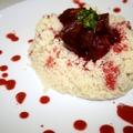 Cékla-curry koriander chutney-val