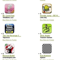 Heti iTunes Store toplista