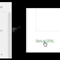 Feedly fiók exportálása OPML formátumba