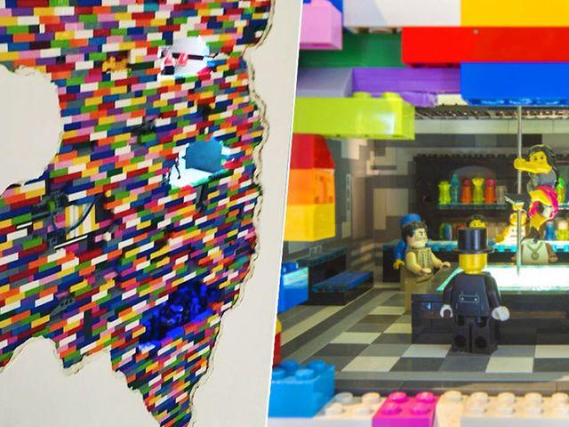 Hihetetlen LEGO fal installációk