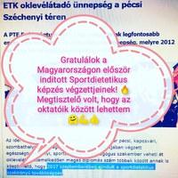 Sportdietetikus posztgraduális képzés 2017-2018