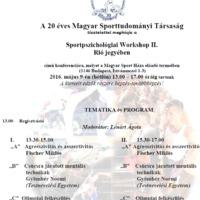 Sportpszichológiai Workshop II. Rió jegyében, 2016.05.09.