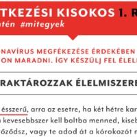 KORONAVÍRUS ÉTKEZÉSI KISOKOS - észrevétel