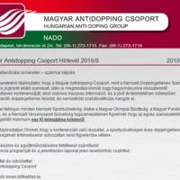 DOPPINGELLENŐRZÉSI ISMERETEK – SZAKMAI KÉPZÉS 2018.11.21-22.