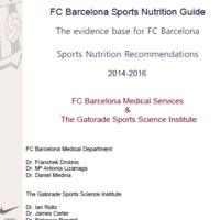 A legfrissebb, 2016-os sporttáplálkozási információk: FC Barcelona Sports Nutrition Guide