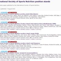 Kötelező sporttáplálkozási információk étrendről és étrend-kiegészítőkről, pontos használati információkkal - International Society of Sports Nutrition position stands