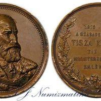 Tisza Kálmán emlékérem 1885.