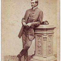 Szeniczey Ödön portréja az 1860-as évekből